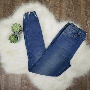 Free people shark bite distressed skinny jeans